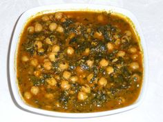 Chole Palak (Chickpeas With Spinach)   Manjula's Kitchen   Indian Vegetarian Recipes   Cooking Videos - I made this without adding extra water; it was very good