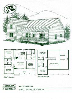 Log Home Floor Plans   Log Cabin Kits   Appalachian Log Homes    Appalachian Log Homes a nationally known contractor featuring log home floor plans  log cabin kits  custom designs  photographs  construction   s agents