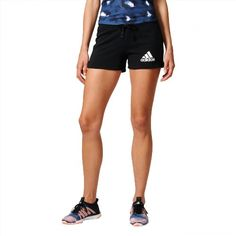 27.95$  Buy now - http://vinnf.justgood.pw/vig/item.php?t=e5j3qv49982 - Adidas Women Shorts Training Essentials Solid Black Running New Summer B45780 27.95$
