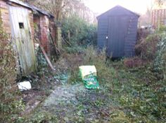 13.)  The furthest bit back almost looks relatively spacious! Plenty of space for a compost heap & water butt.