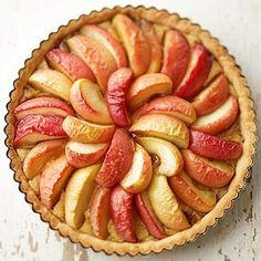 Apple and Browned Butter Tart:Thick caramelized wedges of Honeycrisp apples top this beautiful custard pie made with aromatic browned butter.