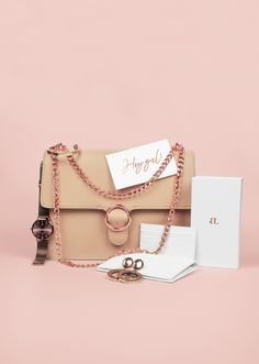 This best selling shoulder handbag with rose gold chain details in Desert  Taupe Nude has become f9fbfe42279c5