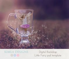 Digital Backdrop Little Fiary psd template by KimlaDesigns on…