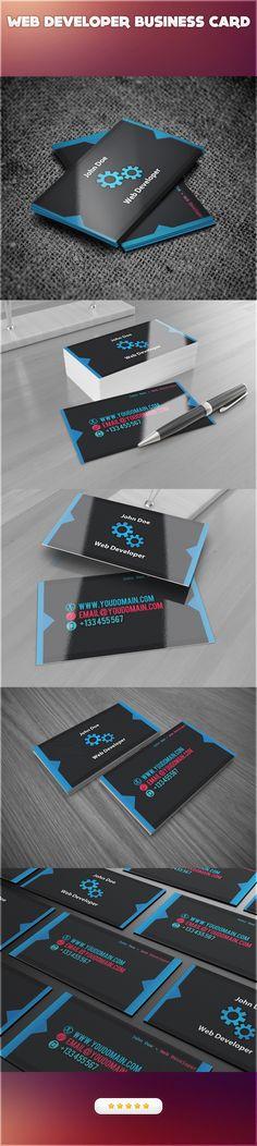 Web Developer Business Card by ~EvoFx1 on deviantART  http://www.techirsh.com