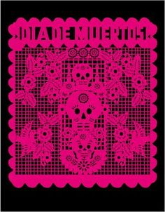 Decorative paper is used to add a artistic element to the Day of the Dead celebrations.