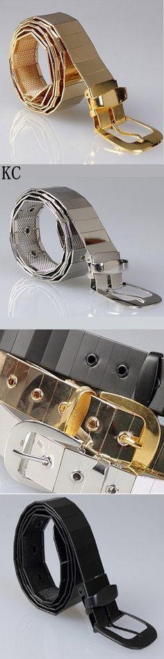 2017 New fashion men all metal alloy belt male pin buckle metal belt / gold silver black men and women belts