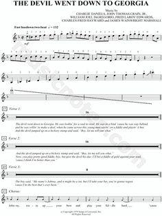 The Devil Went Down to Georgia (partitura violino)