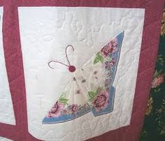 Hankie quilt with butterflies