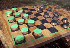 Wood Checker Board, Wooden Pieces