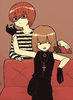 Matt and Mello Death Note Fanart, Death Note デスノート, Nate River, Estilo Anime, Killua, Mystic Messenger, Otaku Anime, Yandere, Detective