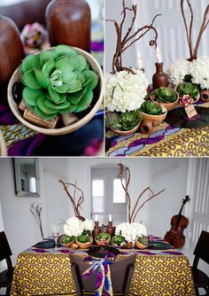 Modern Africa tablescape