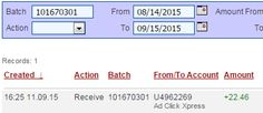 AdClickXpress is the top choice for passive income seekers. Making my daily earnings is fun, and makes it a very profitable! I am getting paid daily at ACX and here is proof of my latest withdrawal. This is not a scam and I love making money online with Ad Click Xpress. http://www.adclickxpress.com/?r=verka79&p=aa