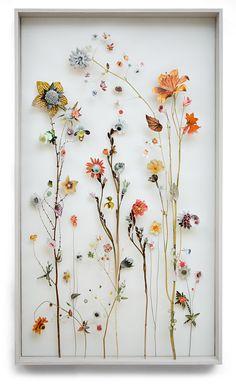 Flower construction #36 (w:70 h:120 d:6.5 cm) Anne Ten Donkelaar