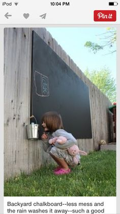 Chalkboard wall outdoors!!!