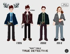 Rust Cohle through the years