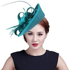 5e97a7e5713eb New Gemvie Women Wedding Party Bow Feather Fascinator Hair Clip Hat online  - Likeprodress