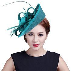 efdaceccfc1f4 New Gemvie Women Wedding Party Bow Feather Fascinator Hair Clip Hat online  - Likeprodress. Pam Watson · Hats