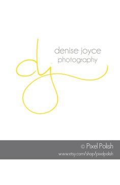 Handwritten Initials Logo created for Denise Joyce of Denise Joyce Photography.