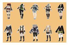 Naruto Outfit Adoptables [CLOSED] by xNoakix3.deviantart.com on @DeviantArt