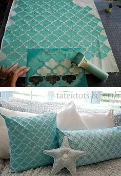 How to Stencil on Fabric and a Royal Design Studio Stencil Giveaway