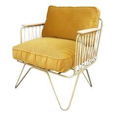 Croisette Gold Matte Velvet Armchair-product