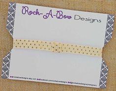 Interchangeable Gold Dot Cream Headband Baby by RockABowDesigns