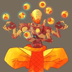 christopherchang: my amateur attempt at animating zenyatta - harmony and discord orbs
