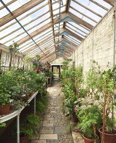 I especially like the greenhouse floor. via