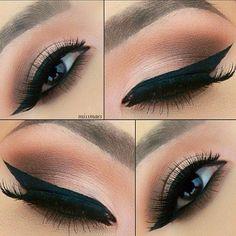 Liner & Shadow. Eye makeup