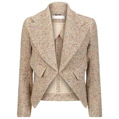 Chloé Flecked Tweed Blazer found on Polyvore
