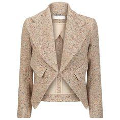 Chloé Flecked Tweed Blazer found on Polyvore