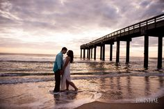 St. Augustine Beach Florida - Sunrise Engagement Session - by Footstone Photography www.footstonephotography.com