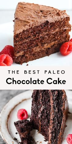Absolutely incredible paleo chocolate cake made with almond flour and coconut flour and topped with a whipped paleo chocolate frosting. Once you make this youll never need another chocolate cake recipe again. Paleo Dessert, Bon Dessert, Healthy Sweets, Dessert Recipes, Cake Recipes Vegan, Coconut Sugar Recipes, Paleo Pumpkin Recipes, Heart Healthy Desserts, Best Paleo Recipes