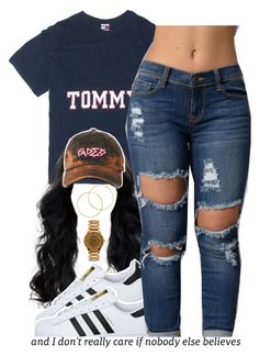 """""""tommy."""" by trinityannetrinity ❤ liked on Polyvore featuring Melissa Odabash, adidas and American Apparel"""