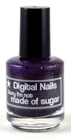 Sorry I'm not made of sugar: a Digital Nails Nail lacquer inspired by Marceline of Adventure Time by DigitalNails on Etsy https://www.etsy.com/listing/125311403/sorry-im-not-made-of-sugar-a-digital