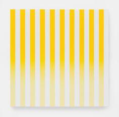 Philippe Decrauzat - Slow Motion, acrylique sur toile, 100 x 100 cm, 2015.