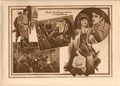 D. W. Griffith's HEARTS OF THE WORLD (1918) movie program.