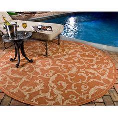 Safavieh Courtyard All Over Ivy Terracota Indoor/Outdoor Area Rug & Reviews | Wayfair