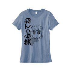 Anime Girl T-Shirt Kawaii Japanese Tee Smile Fairy Kei Pastel Goth... ($20) ❤ liked on Polyvore featuring tops, t-shirts, purple, women's clothing, fitted t shirts, goth t shirts, checkered shirt, animal t shirts and skate t shirts