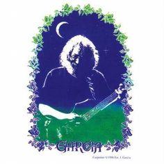 Jerry Garcia - Rose Border - Decal
