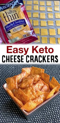 Low Carb Cheese Crackers Recipe, Low Carb Crackers, Keto Cheese, Easy Cheese, Low Carb Keto, Low Carb Recipes, Cooking Recipes, Fastfood Recipes, Ketogenic Recipes