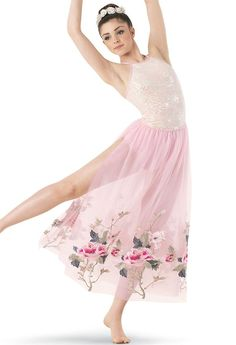 ff80ddb24 Long flowy skirt with leotard. Gorgeous dress. Perfect for a lyrical ...