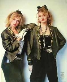 Madonna and Rosanna by Herb Ritts (Promos for Desperately Seeking Susan, 1985)