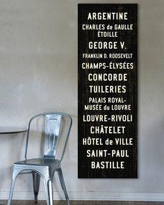 PARIS METRO Subway Scroll - now a little Subway music