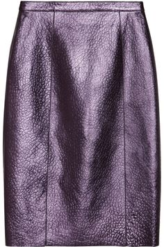 Metallic textured-leather pencil skirt by Burberry Prorsum