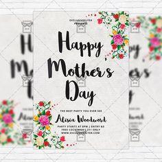 Happy Mother's Day - Premium Flyer Template + Instagram Size Flyer http://www.exclusiveflyer.com/product/happy-mothers-day-premium-flyer-template-instagram-size-flyer/