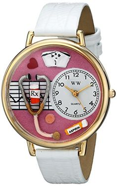Whimsical Watches Unisex G0620047 Nurse Analog Display Japanese Quartz White Watch - http://www.artistic-watches.com/2016/04/11/whimsical-watches-unisex-g0620047-nurse-analog-display-japanese-quartz-white-watch/