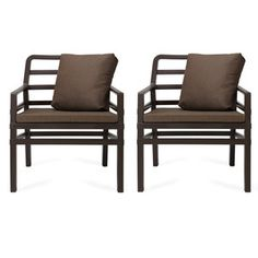 Aria Chair Pair Caffe by Nardi- for the patio