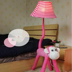 57.80$  Buy here - http://alilfx.worldwells.pw/go.php?t=32774540457 - Top Monkey Cartoon Floor Lamps Led 110V-220V E27 Kids Floor Lamp Cartoon Cute Pink Bedside Lamp Lighting Bedrooms
