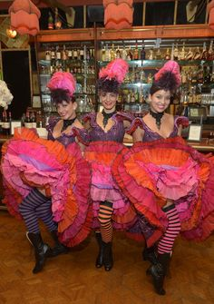 Can-Can Girls in the saloon